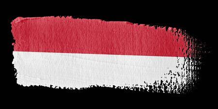Brushstroke Flag Indonesia photo