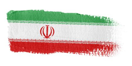 iranian: Brushstroke Flag Iran Stock Photo