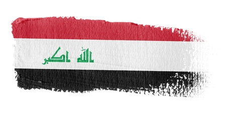 Brushstroke Flag Iraq photo