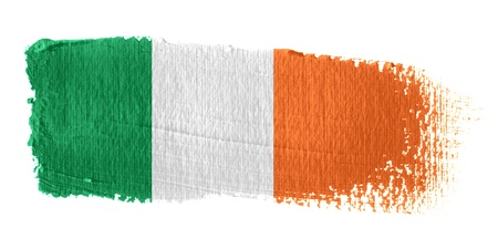 irish flag: Brushstroke Flag Republic of Ireland Stock Photo