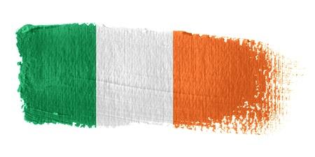brushstroke: Brushstroke Flag Republic of Ireland Stock Photo