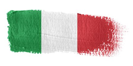 brush stroke: Brushstroke Flag Italy Stock Photo