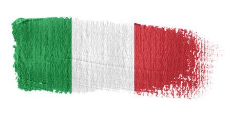 flag: Penseelstreek Vlag Italië Stockfoto