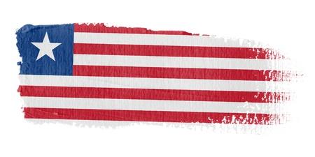 Brushstroke Flag Liberia photo