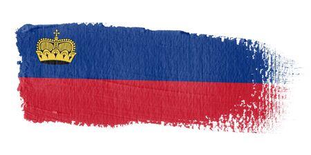 liechtenstein: Brushstroke Flag Liechtenstein