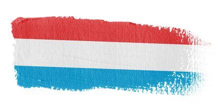 brushwork: Brushstroke Flag Luxembourg