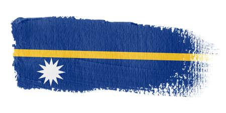 nauru: Brushstroke Flag Nauru Stock Photo