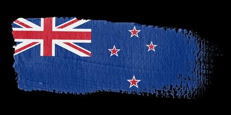 flag of new zealand: Brushstroke Flag New Zealand