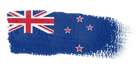 Brushstroke Flag New Zealand photo
