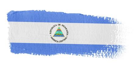 Brushstroke Flag Nicaragua photo