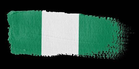 graphing: Brushstroke Flag Nigeria