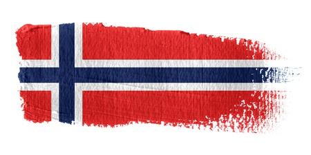 Brushstroke Flag Norway photo