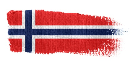 graphing: Brushstroke Flag Norway