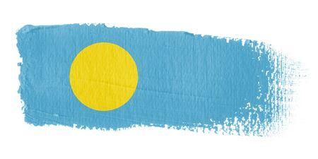 palau: Brushstroke Flag Palau