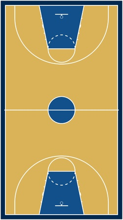 champions league: Basketball court