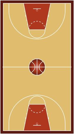 Basketball court Stock Vector - 10563152