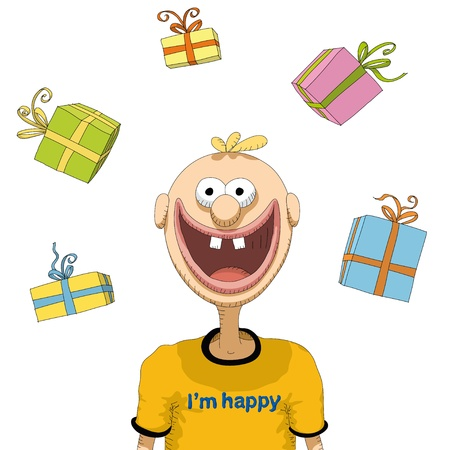 happy person Stock Vector - 10563220
