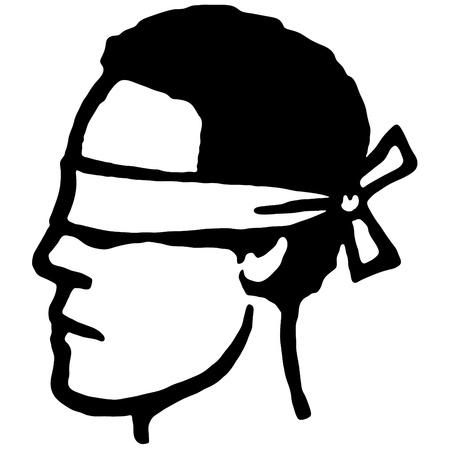 blindfolded: Blindfolded Illustration