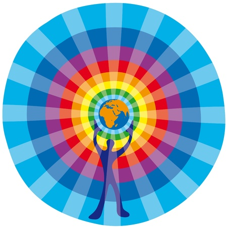 sostenibilit�: Uomo e globe