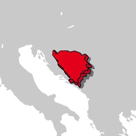 bosnia and herzegovina: Bosnia and Herzegovina 3d map