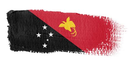 papua: Brushstroke Flag Papua New Guinea Stock Photo