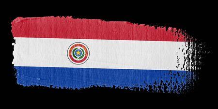 Brushstroke Flag Paraguay photo