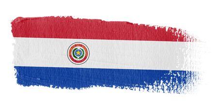 bandera de paraguay: Bandera de pincelada Paraguay