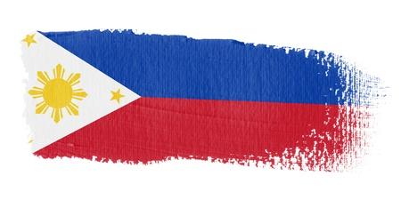 philippines: Brushstroke Flag Philippines