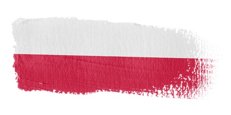 poland flag: Brushstroke Flag Poland