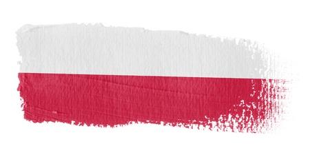 bandera de polonia: Pincelada Bandera Polonia
