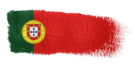 bandera de portugal: Pincelada Bandera Portugal Foto de archivo