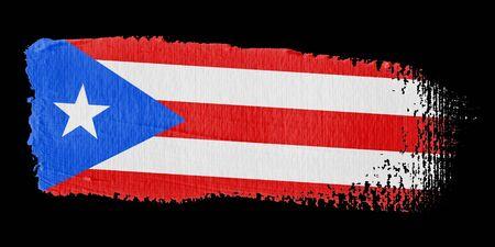 brushwork: Brushstroke Flag Puerto Rico