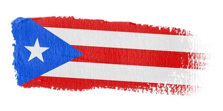 Brushstroke Flag Puerto Rico