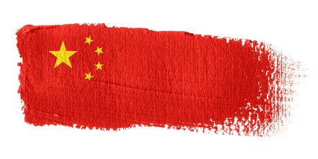 china flag: Brushstroke Flag China