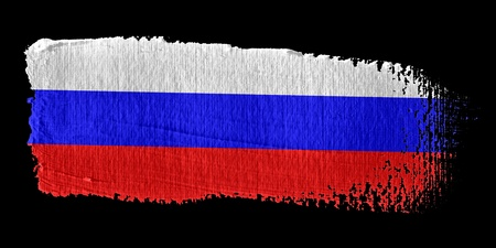 graphing: Brushstroke Flag Russia