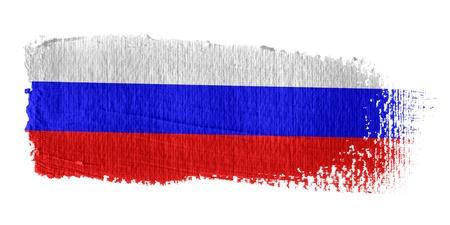 bandera rusia: Pincelada Bandera de Rusia Foto de archivo