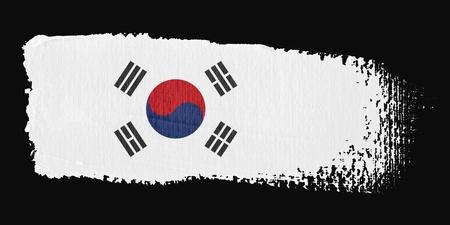 Brushstroke Flag South Korea photo