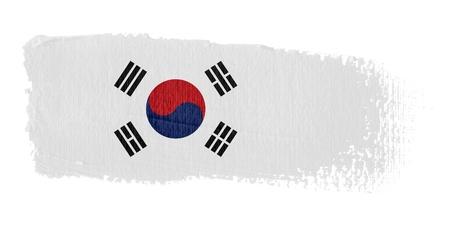 Brushstroke Flag South Korea Stock Photo - 10570191