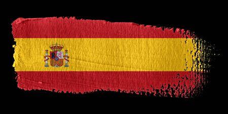 brushstroke: Brushstroke Flag Spain