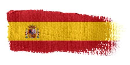 Brushstroke Flag Spain Stock Photo - 10570324