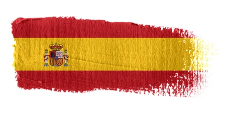 spanish flag: Brushstroke Flag Spain