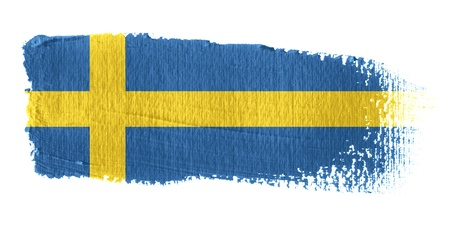 sweden flag: Brushstroke Flag Sweden Stock Photo