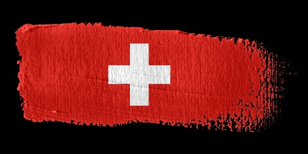 switzerland flag: Brushstroke Flag Switzerland