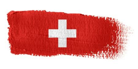 zwitserland vlag: Penseelstreek Vlag Zwitserland