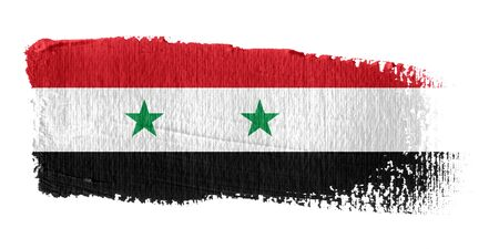 syria: Brushstroke Flagge Syrien Lizenzfreie Bilder