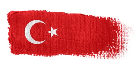 turkish flag: Brushstroke Flag Turkey