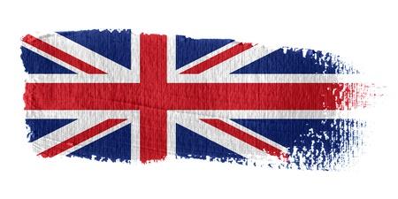 Brushstroke Flag Union Jack Stock Photo