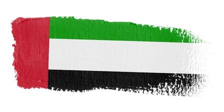 arab flags: Brushstroke Flag United Arab Emirates