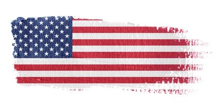 flags usa: Brushstroke Flag United States
