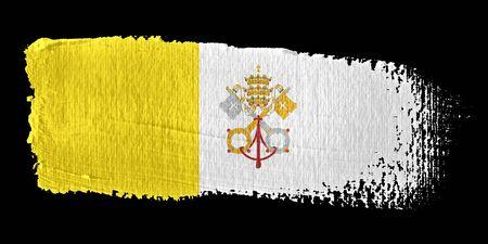 Brushstroke Flag Vatican City
